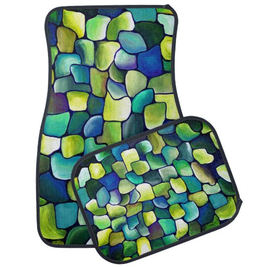 Contemporary Green Pattern Car Mat