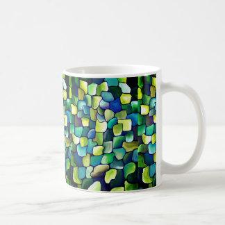 Contemporary Green Pattern Coffee Mug