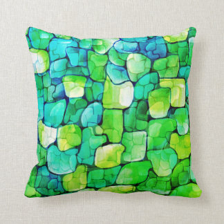 Contemporary Green Pattern Cushion