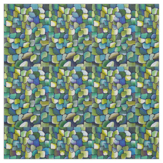 Contemporary Green Pattern Fabric