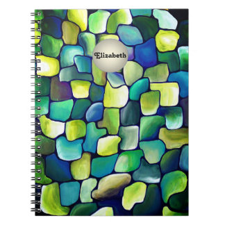 Contemporary Green Pattern Notebook