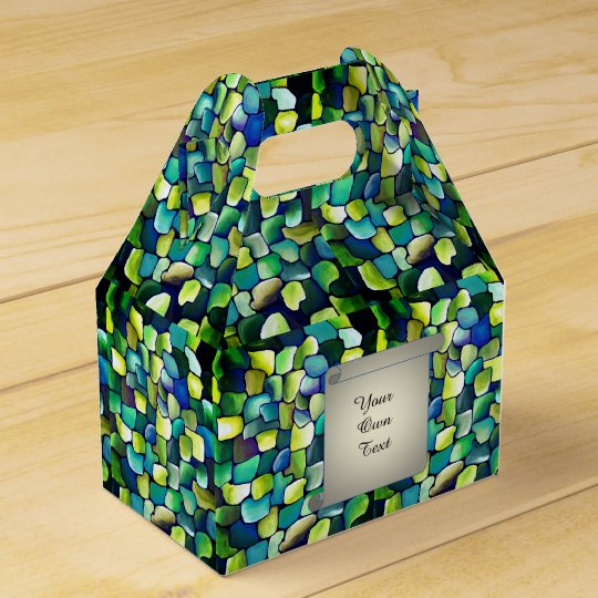 Contemporary Green Pattern - Papyrus Favour Boxes