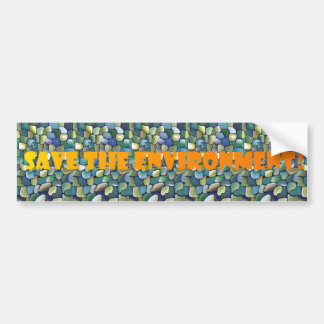 Contemporary Green Pattern - Save the Environment Bumper Sticker