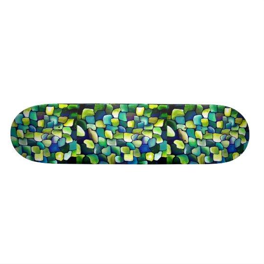 Contemporary Green Pattern Skate Board