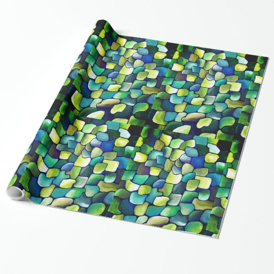 Contemporary Green Pattern Wrapping Paper