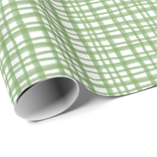 Contemporary Green Plaid by Redux121DesignStudio Wrapping Paper