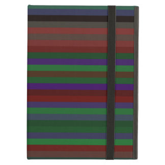 Contemporary green red and purple stripes iPad folio cases