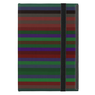 Contemporary green red and purple stripes iPad mini cases