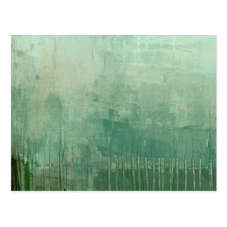 Contemporary Green Watercolor Postcard