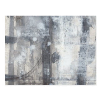 Contemporary Grey Painting Postcards