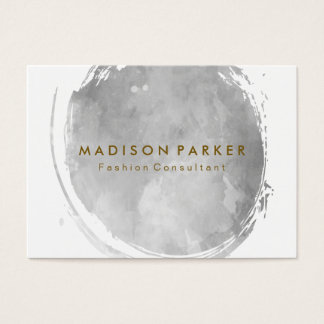 Contemporary Grey Watercolor Brushed Business Card