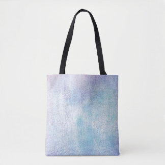 Contemporary Grungy Aquarelle Blue Pastel Paining Tote Bag