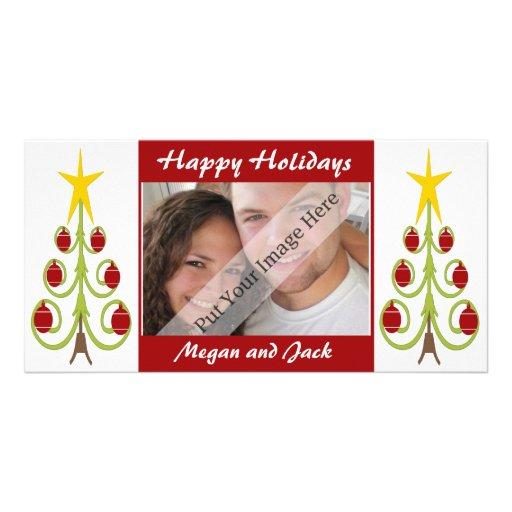 Contemporary Happy Holidays Photo Card