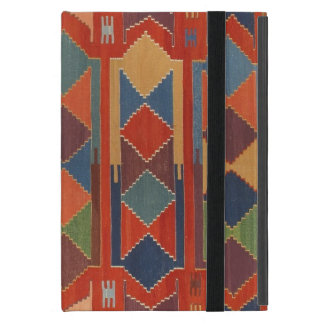 Contemporary Kilim Pattern Orange Blue Green iPad Mini Cover