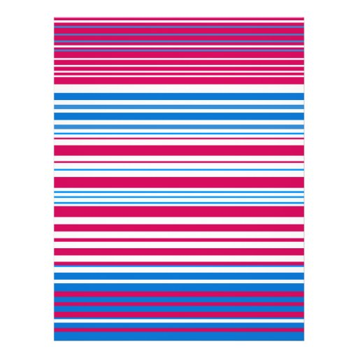 Contemporary light blue pink and white stripes custom flyer