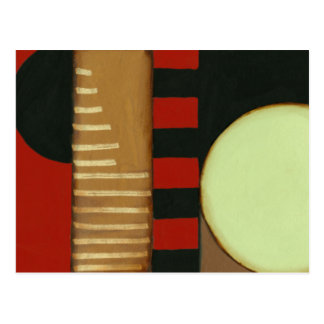 Contemporary Loft Style Paneled Painting Postcard