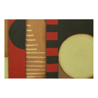 Contemporary Loft Style Paneled Painting Wood Wall Art