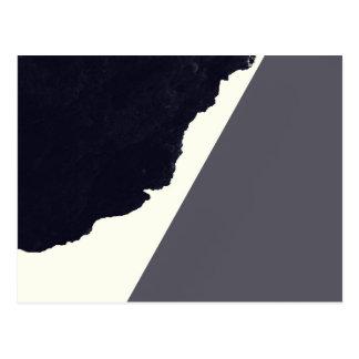 Contemporary Minimalistic Black and White Art Postcard