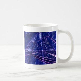 contemporary modern digital art cubed basic white mug