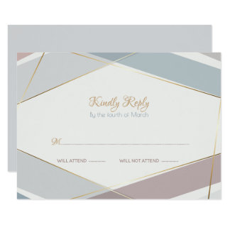 Contemporary Modern Geometric Stripes Taupe Slate Card