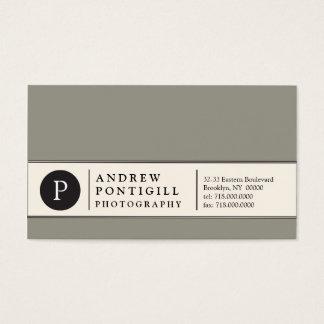 Contemporary Monogram Business Card