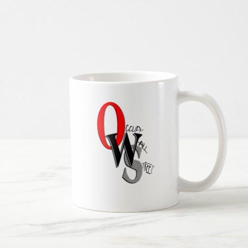 Contemporary Occupy Wall Street Mug