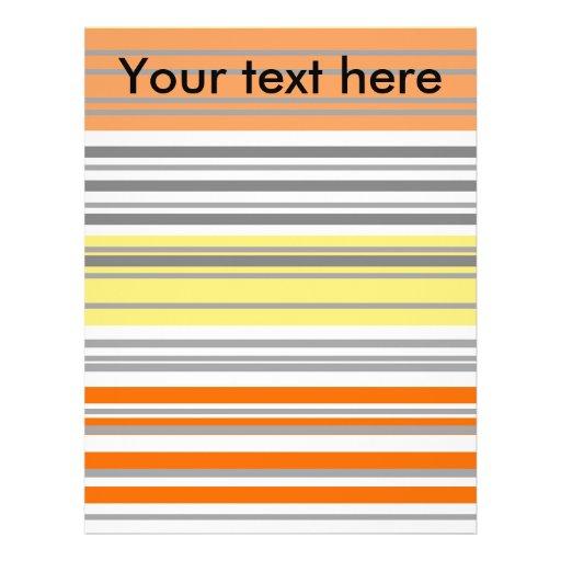 Contemporary orange and yellow horizontal stripes flyer design