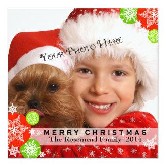 Contemporary Photo Christmas Card 13 Cm X 13 Cm Square Invitation Card