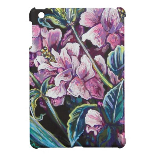 contemporary pink floral iPad mini cases