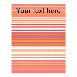 Contemporary pink white and orange stripes flyers