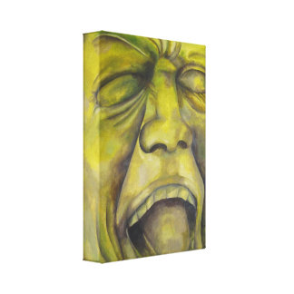 Contemporary portrait painting - Roller Coaster Stretched Canvas Prints