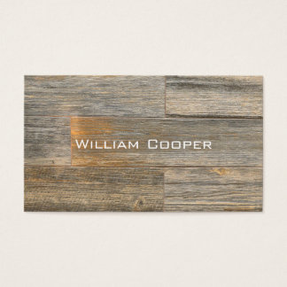 Contemporary Rustic Wood  design Business Card