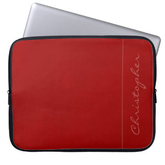 * Contemporary Signature Mottled Red Laptop Sleeve