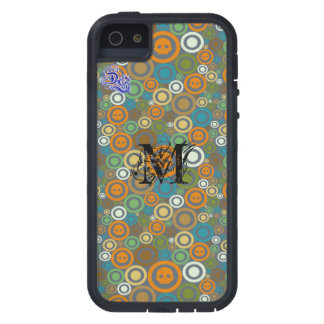Contemporary Skulls Monogrammed iPhone 5 Case