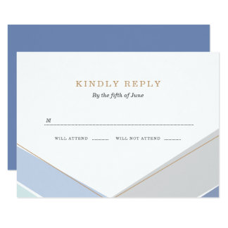 Contemporary Stripes Bar Mitzvah RSVP Card
