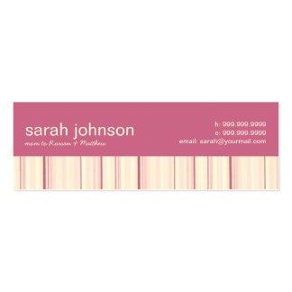 Contemporary Stripes Mommy Calling Card Pack Of Skinny Business Cards