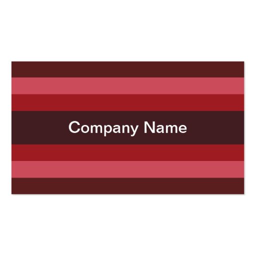 Contemporary Stripes (Ruby) Business Cards