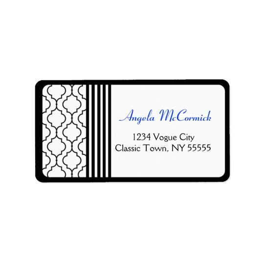 Contemporary Style Luxury Address Label