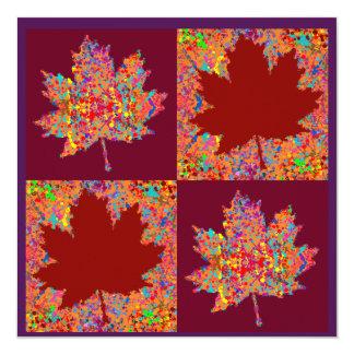 Contemporary Thanksgiving 13 Cm X 13 Cm Square Invitation Card