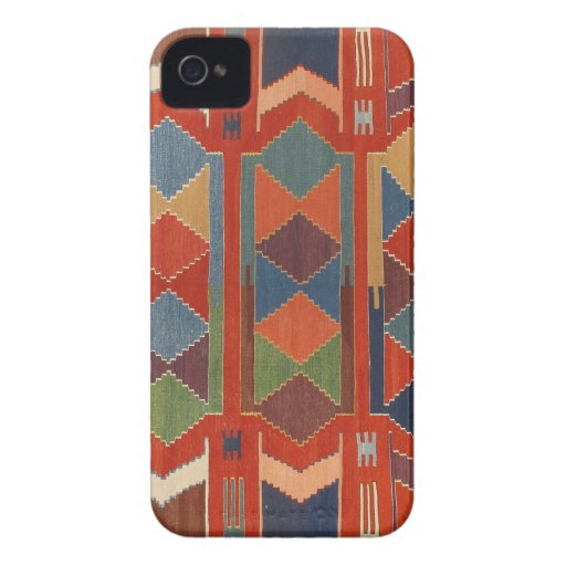 Contemporary Turkish Kilim Pattern iPhone 4 Case-Mate Case