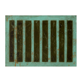 Contemporary Turquoise Air Grate Acrylic Wall Art