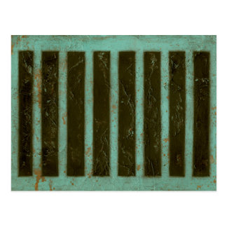 Contemporary Turquoise Air Grate Postcard