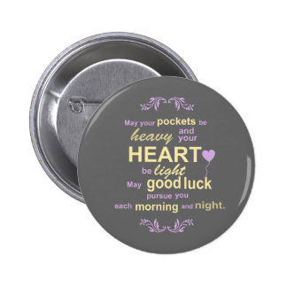 Contemporary Typography Irish Blessing in Gray 6 Cm Round Badge
