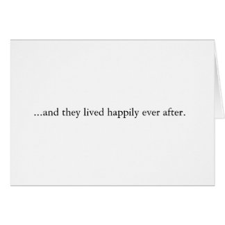 Contemporary Wedding Thank You Card
