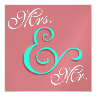 Contemporary Wedding Typography 13 Cm X 13 Cm Square Invitation Card