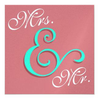 Contemporary Wedding Typography 13 Cm X 13 Cm Square Invitation Card