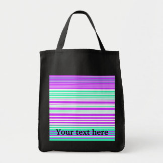 Contemporary white purple and marine stripes canvas bags