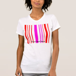 Contemporary white red and pink stripes shirts