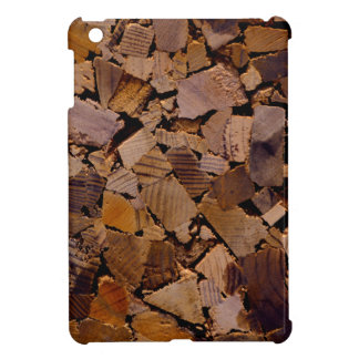 Contemporary wood chip design iPad mini covers