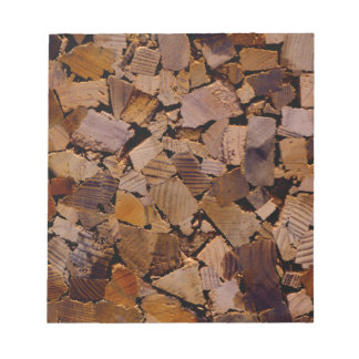 Contemporary wood chip design notepads